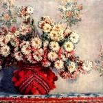 Картина Клода Моне - Хризантеми