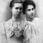 Леся Українка З Аріадною Драгомановою, 1895 р.