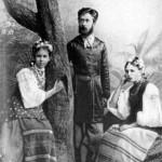 Леся Українка З братом Михайлом і Маргаритою Комаровою, 1889 р.