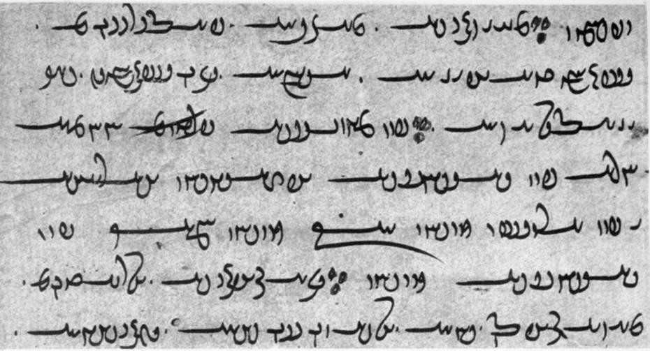 Фрагмент рукопису Авести